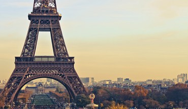 Eiffel tower paris cityscapes sunset HD wallpaper