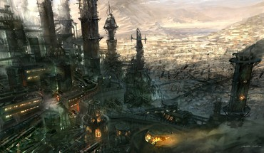 Fantasy art artwork landscape HD wallpaper