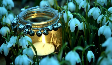 Spring candles HD wallpaper