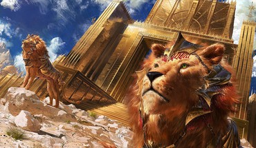 Sun gate lions mtg HD wallpaper
