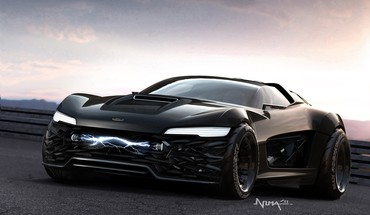 Concept art vehicles ford falcon black australia HD wallpaper