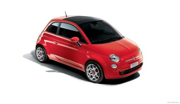 Ferrari fiat 500 automotive cars HD wallpaper