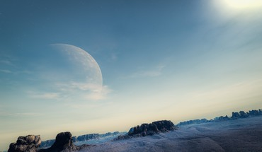 Moon landscapes skyscapes HD wallpaper