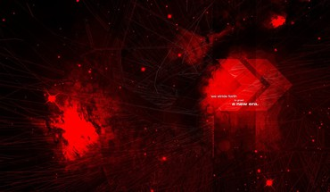 Abstract red splatters text HD wallpaper