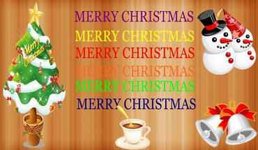 Merry christmas color full HD wallpaper
