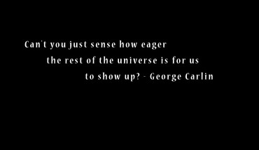 Minimalistic text quotes george carlin black background only HD wallpaper