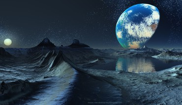 Space dawn planets moon fantasy art artwork HD wallpaper