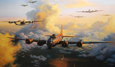 Aircraft military bomber world war ii HD wallpaper