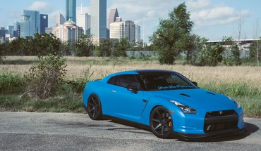 Blue nissan gtr HD wallpaper