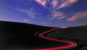Lights wall roads trail skyscapes HD wallpaper