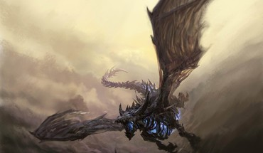 Dragons flying world of warcraft fantasy art sindragosa HD wallpaper