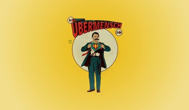 Minimalistic superman parody friedrich nietzsche HD wallpaper
