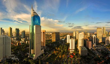 Cityscapes indonesia cities skyline jakarta HD wallpaper