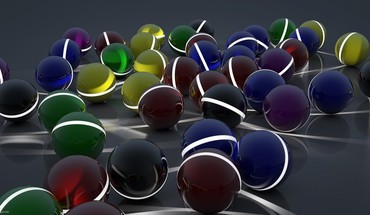 Surface balls glow lot HD wallpaper