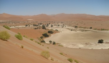 Desert sand dunes of africa HD wallpaper