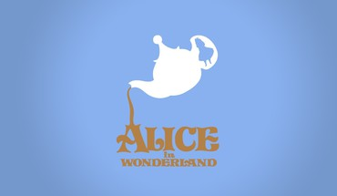 Wonderland disney company digital art minimalistic movies HD wallpaper