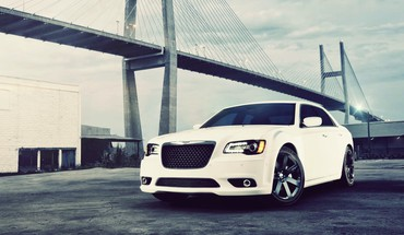 Cars bridges vehicles chrysler 300 automobiles srt8 HD wallpaper