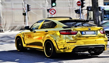 BMW X6 M Hamann en or  HD wallpaper