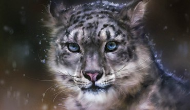 Snow leopard art HD wallpaper