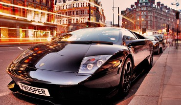 Cityscapes automobiliai Lamborghini transporto juoda  HD wallpaper