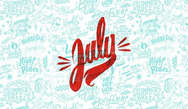 Text typography july HD wallpaper