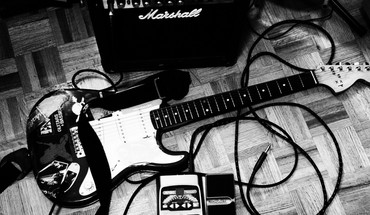 Amplifiers grayscale guitars marshall music HD wallpaper