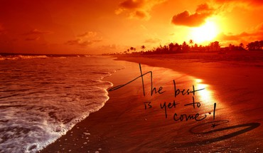 Saying effects effect sayings sundown beachscape beach HD wallpaper