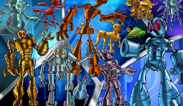 Children robots HD wallpaper