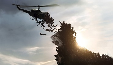 World war z falling skies zombie apocalypse HD wallpaper