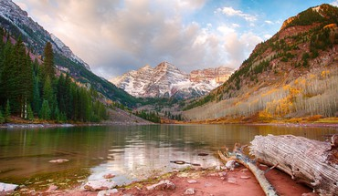 Valley usa colorado lakes hdr photography logs HD wallpaper