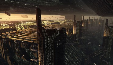 Ex fantasy art skyscrapers science fiction pyramids HD wallpaper