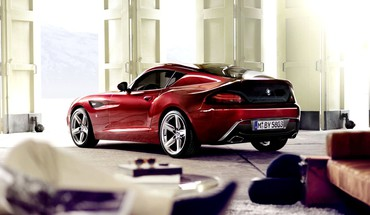 Bmw red cars sports HD wallpaper