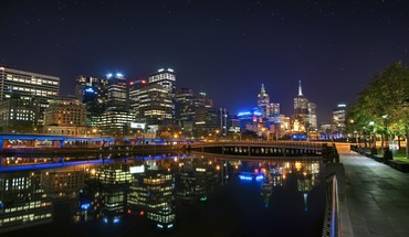 Abstrakte Stadtbild melbourne  HD wallpaper