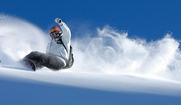 Blizzard cold snow snowboarding splashes HD wallpaper