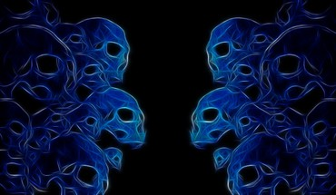 Abstract skulls fractalius HD wallpaper