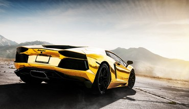 Cars lamborghini aventador yellow lp700-4 HD wallpaper