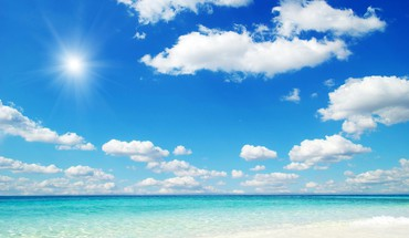 Beach blue sky HD wallpaper