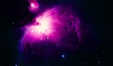 Outer space purple stars HD wallpaper