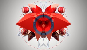 Abstract compasses red white HD wallpaper