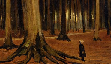 Paintings trees forest vincent van gogh artwork HD wallpaper