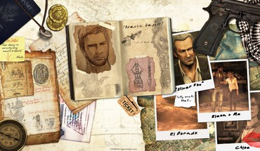 Video games uncharted digital art desks desk HD wallpaper