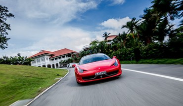 Red cars ferrari roads 458 italia HD wallpaper