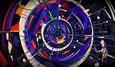 Matei apostolescu abstract futuristic multicolor techno HD wallpaper
