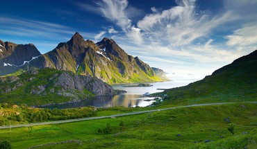 Fjord landscapes nordic sea HD wallpaper