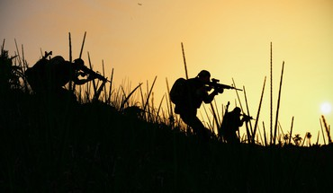 Soldiers military silhouettes HD wallpaper