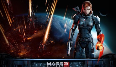 Femshep commander shepard electronic arts armored suit HD wallpaper