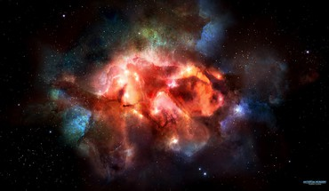 Outer space stars nebulae art HD wallpaper