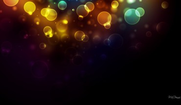 Bright bokeh lights HD wallpaper