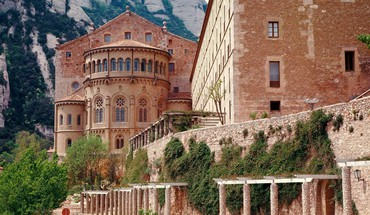Landscapes nature spain monastery HD wallpaper