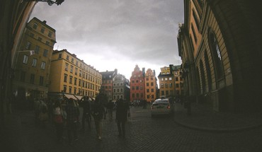 Cityscapes sweden summer fisheye effect HD wallpaper